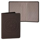 Обложка для паспорта FABULA «Talisman», натуральная кожа, геометрическое тиснение, шоколадная