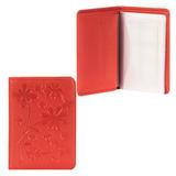 Бумажник водителя FABULA «Astra», натуральная кожа, декоративное тиснение, 6 пластиковых карманов, красный