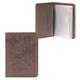 Бумажник водителя FABULA «Astra», натуральная кожа, декоративное тиснение, 6 пластиковых карманов, какао