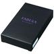 Визитница карманная FABULA «Astra» на 40 визитных карт, натуральная кожа, декоративное тиснение, черная