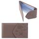Визитница карманная FABULA «Astra» на 40 визитных карт, натуральная кожа, декоративное тиснение, какао
