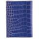 Бумажник водителя FABULA «Croco Nile», натуральная кожа, тиснение «крокодил», синий