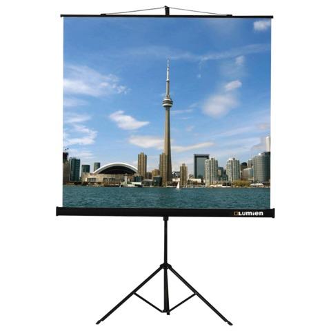 Экран проекционный LUMIEN ECO VIEW, матовый, на треноге, 160×160 см, 1:1