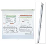 Экран проекционный LUMIEN ECO PICTURE, матовый, настенный, 200×200 см, 1:1