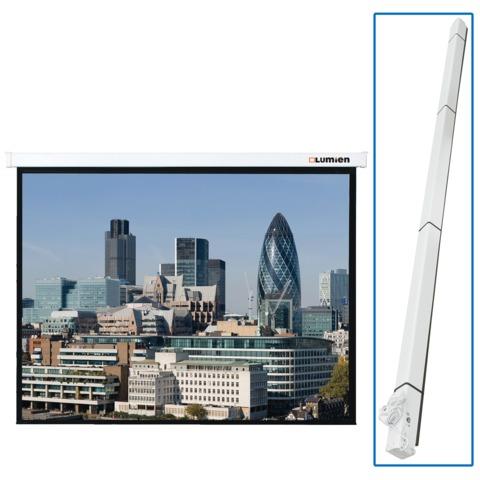 Экран проекционный LUMIEN MASTER CONTROL, матовый, настенный, электропривод, 244х244 см, 1:1