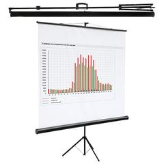 Экран проекционный DIGIS KONTUR-C, матовый, на треноге, 160×160 см, 1:1