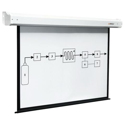 Экран проекционный DIGIS ELECTRA, матовый, настенный, электропривод, 180×180 см, 1:1