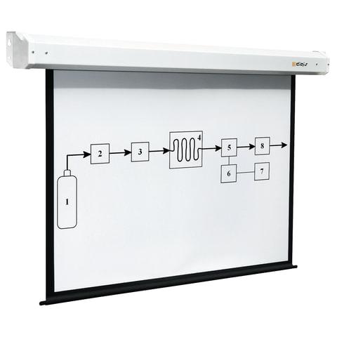 Экран проекционный DIGIS ELECTRA, матовый, настенный, электропривод, 210×280 см, 4:3