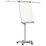 Доска-флипчарт «2×3» (Польша), магнитно-маркерная, 70×100 см, передвижная, держатели для бумаги