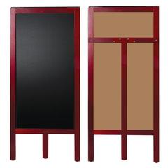 Доска-штендер меловая, BRAUBERG, односторонняя, 45×104 см, деревянная, окрашенная рама