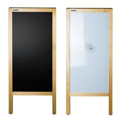 Доска-штендер магнитно-маркерная и для мела BRAUBERG, двусторонняя, 45×104 см, деревянная, неокрашенная рама