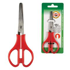 Ножницы KOH-I-NOOR, 135 мм, классической формы, цвет ручек красный, картонная упаковка с подвесом