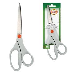 Ножницы KOH-I-NOOR, 205 мм, эргономичная форма, серые ручки, картонная упаковка с подвесом