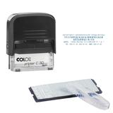Штамп самонаборный 5-строчный, оттиск 47×18 мм, синий, без рамки, COLOP PRINTER С30/<wbr/>1-Set, касса в комплекте
