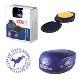 Оснастка для печатей, оттиск D=40 мм, синий, COLOP STAMP MOUSE R40, корпус цвета индиго (синий)