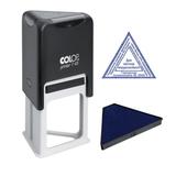 Оснастка для штампа, оттиск 45×45×45 мм, синий, COLOP PRINTER T45, подушка в комплекте, корпус черный