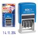 Датер-мини месяц цифрами, оттиск 20×3,8 мм, синий, COLOP S120/<wbr/>BL Bank, корпус синий