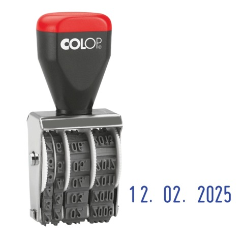 Датер ручной ленточный, оттиск 22×4 мм, месяц цифрами, COLOP 04000 Bank