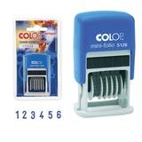 Нумератор-мини 6-разрядный, оттиск 20*3,8 мм синий, COLOP S126, корпус синий,ш/<wbr/>к26691