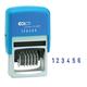 Нумератор 6-разрядный, оттиск 45×4 мм, синий, COLOP S226, корпус синий