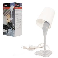 Светильник настольный ЭРА NE-306, на подставке, люминесцентный, 25 Вт, белый, E27