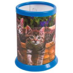 Подставка-стакан для канцелярских принадлежностей BRAUBERG, 3D-эффект, «Котята», D 87×106 мм