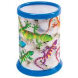 Подставка-стакан для канцелярских принадлежностей BRAUBERG, 3D-эффект, «Ящерицы», D 87×106 мм