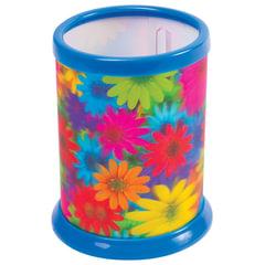Подставка-стакан для канцелярских принадлежностей BRAUBERG, 3D-эффект, «Цветы», D 87×106 мм