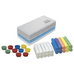 Набор для меловой доски «2×3», стиратель+10 магнитов+20 мелков (10 белых и 10 цветных)