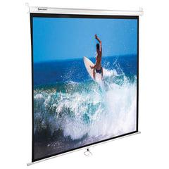 Экран проекционный BRAUBERG WALL, матовый, настенный, 150×150 см, 1:1