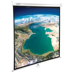 Экран проекционный BRAUBERG WALL, матовый, настенный, 180×180 см, 1:1
