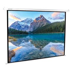 Экран проекционный BRAUBERG MOTO, матовый, настенный, электропривод, 180×240 см, 4:3