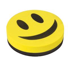 Стиратель магнитный для магнитно-маркерной доски 90 мм «Смайлик», STAFF, упаковка с подвесом