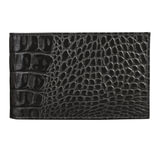 Визитница карманная BEFLER «Кайман», на 40 визиток, натуральная кожа, крокодил, черная