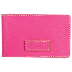 Визитница карманная FABULA «Ultra», на 40 визиток, натуральная кожа, розовая