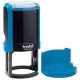Оснастка для печати, оттиск D=42 синий, TRODAT 4642 PRINTY 4.0, корпус синий, крышка