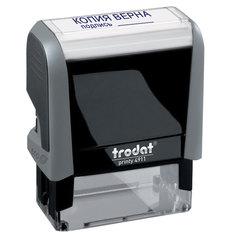 Штамп стандартный «КОПИЯ ВЕРНА, подпись», оттиск 38×14 мм, синий, TRODAT 4911P4-3.42