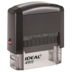 Оснастка для штампа, оттиск 38×14 мм, синий, TRODAT IDEAL 4911 P2, подушка, корпус черный