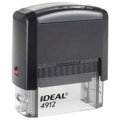 Оснастка для штампа, оттиск 47×18 мм, синий, TRODAT IDEAL 4912 P2, подушка, корпус черный