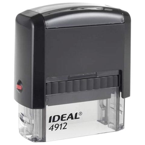Оснастка для штампа, оттиск 47х18 мм, синий, TRODAT IDEAL 4912 P2, подушка, корпус черный