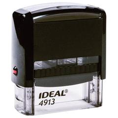 Оснастка для штампа, оттиск 58×22 мм, синий, TRODAT IDEAL 4913 P2, подушка, корпус черный