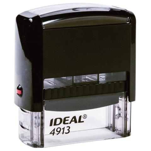 Оснастка для штампа, оттиск 58х22 мм, синий, TRODAT IDEAL 4913 P2, подушка, корпус черный