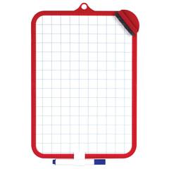 Доска для рисования с маркером и губкой, ПИФАГОР, 185×260 мм, клетка, красная рамка, подвес
