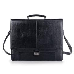 Портфель из кожзаменителя «Бизнес», черный