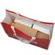 Сумка ОФИСМАГ универсальная, глянцевая полипропиленовая ткань, до 20 кг, 43×57×21 см, красная