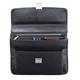 Портфель из натуральной кожи, замок, 380×270×120 мм, черный