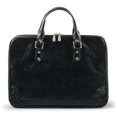 Портфель-сумка женский из кожзама, на молнии, 380×270×100 мм, черный