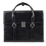 Портфель-сумка женский из кожзама, на замке, 360×270×100 мм, черный
