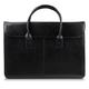 Портфель-сумка женский из натуральной кожи, на молнии, 380×280×80 мм, тиснение «крокодил», черный