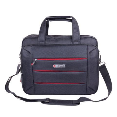 Сумка деловая для офиса и учебы BRAUBERG «Flagman» (БРАУБЕРГ «Флагман»), отделение для планшета и ноутбука 15,6, 32×41×10см, ткань